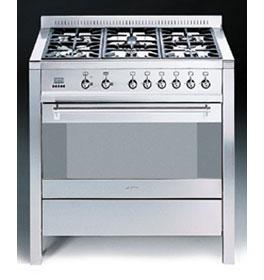 Comprar Cocina de acero inoxidable, encimera con seis quemadores y un horno eléctrico multifunción A1.1K