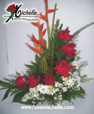 Comprar Bouquets de cumpleanos, Cascada 6 Rosas