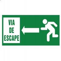 Señal Via de Escape flecha izquierda