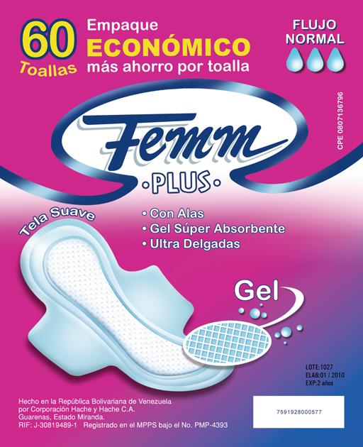 Comprar Medios de higiene, Toallas Sanitarias Femm