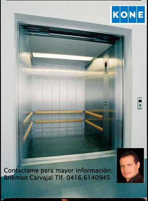 Comprar Ascensor KONE Montacargas MonoSpace y MiniSpace