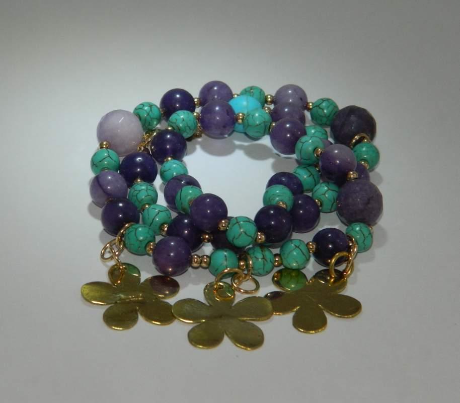 Comprar Collares en piedras naturales en todos los colores y con dijes en plata alpaca o bronce