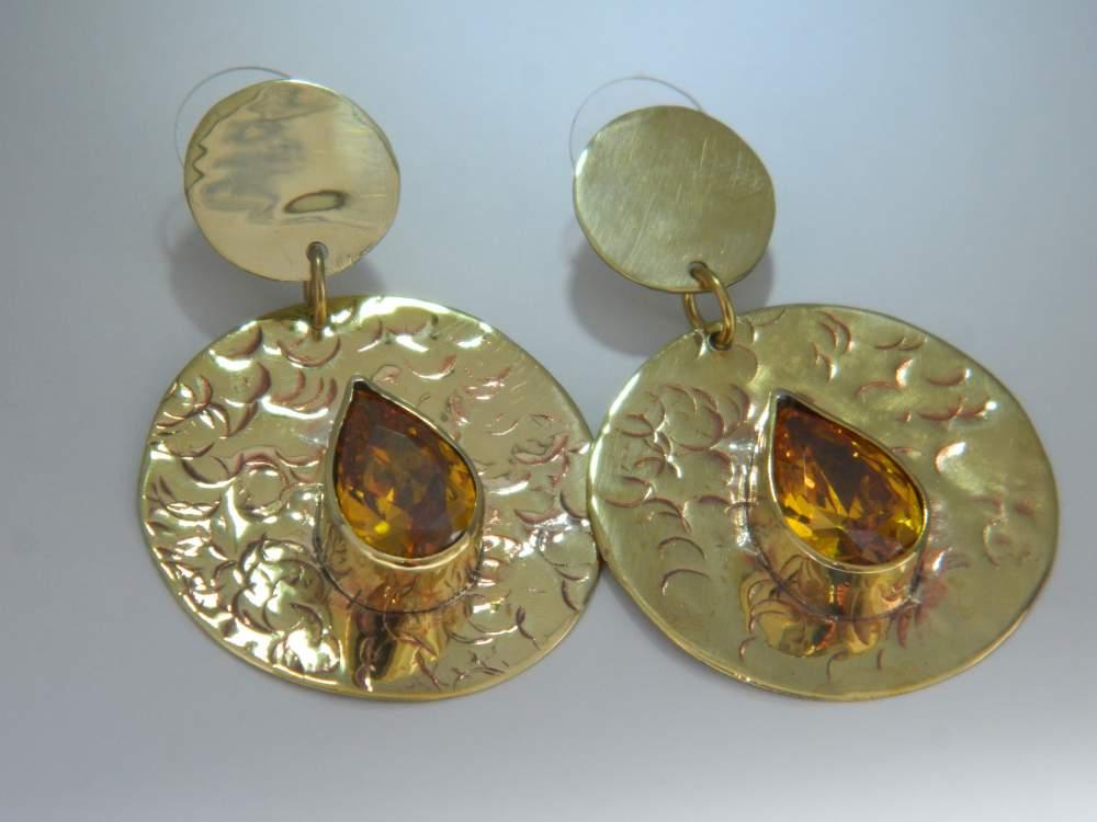 Comprar Zarcillos con circones en todas las formas y colores montadas sobre bronce