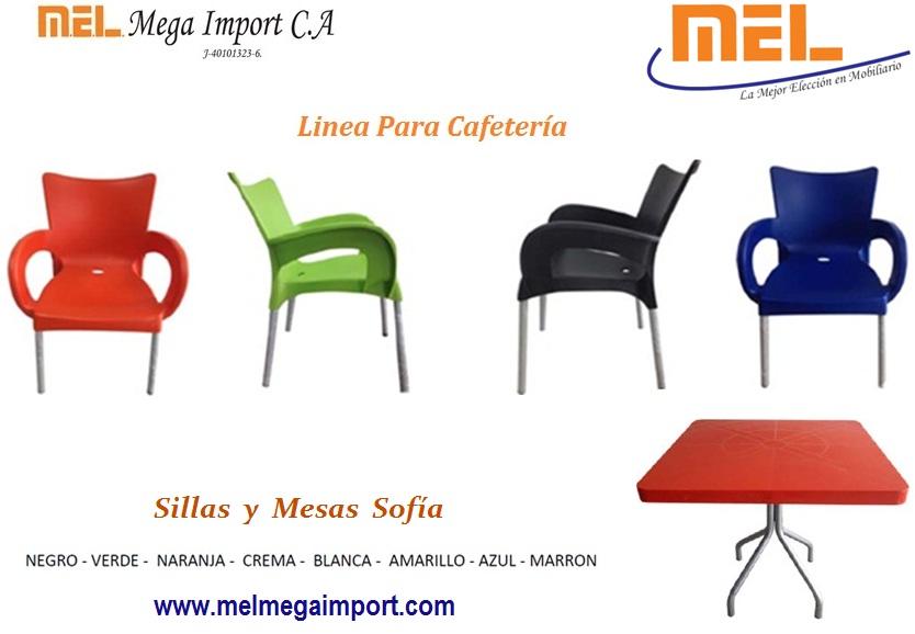 Comprar Sillas y Mesa de Cafetería Sofia