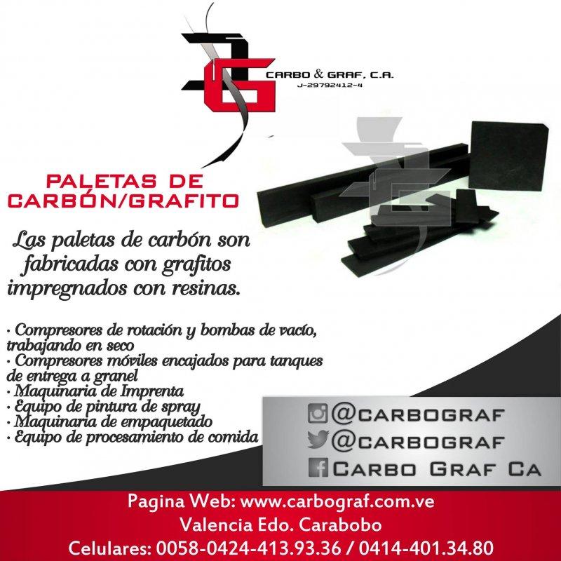 Comprar PALETAS DE CARBÓN/GRAFITO:
