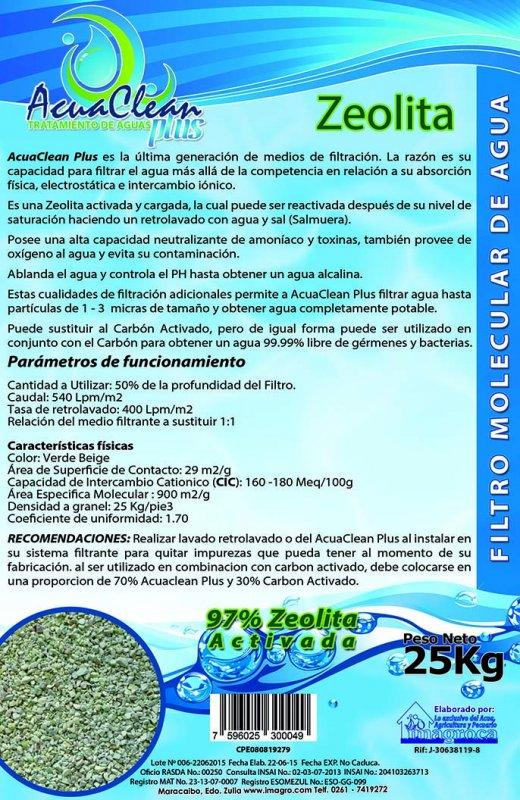 Comprar AcuaClean Zeolita Natural Carga para Filtros Tratamiento de Agua