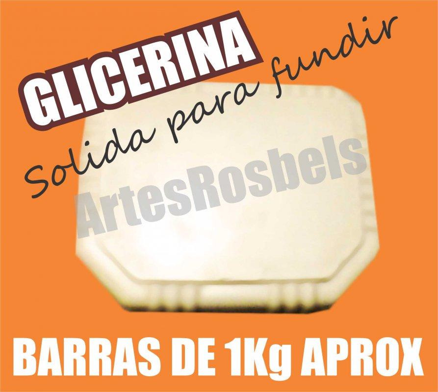 Comprar GLICERINA PARA DERRETIR Y HACER JABONES, SOLIDA BLANCA