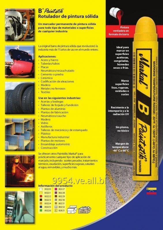 Comprar Tiza Industrial Marcador Solido MARKAL | B® Paintstik®