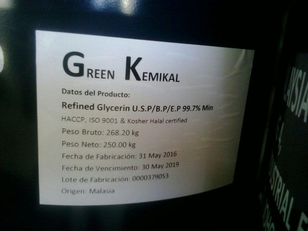 Comprar Glicerina USP, Koscher y Halal