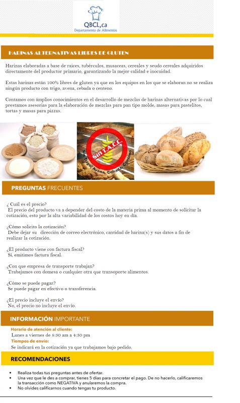 Comprar Harinas alternativas (yuca, batata, ocumo chino, ñame, plátano, arroz, maíz y leguminosas)