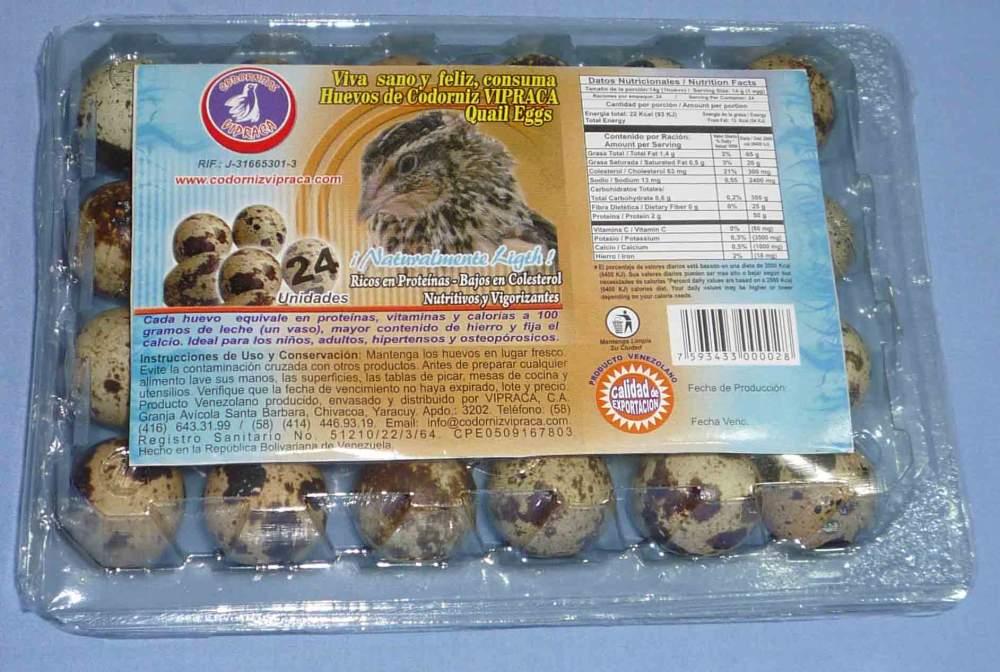 Comprar Huevos de Codorniz Vipraca en estuches de 24 y 48 unidades