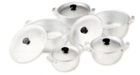Comprar Juego de Ollas Konomicas de 10 piezas satinadas con asa de aluminio