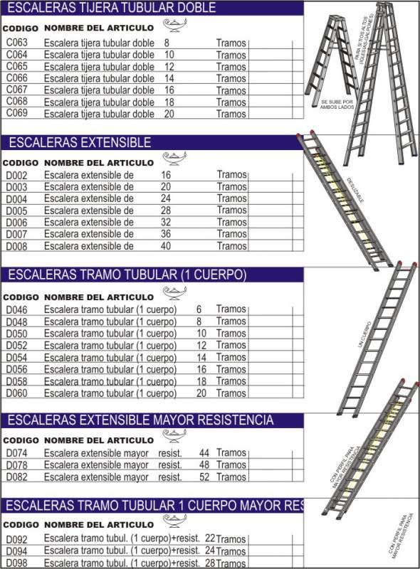 Comprar Escaleras de aluminio