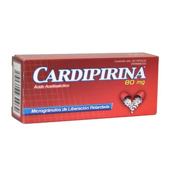 Compro Medicamentos cardiovasculares, Cardipirina 80 mg