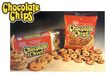 Galletas dulces de vainilla con chips de chocolate