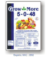 Comprar Fertilizantes solubles en agua Grow More 5-0-48