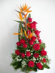 Presentacion de 24 rosas