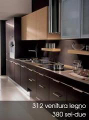 Cocinas hechas de madera natural