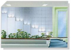 Tabique Drywall con tratamientos de texturas y relieves