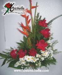 Bouquets de cumpleanos, Cascada 6 Rosas