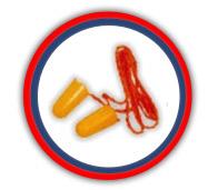 Tapones auditivos de espuma expandible con cordón