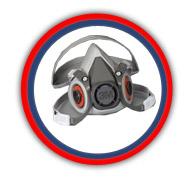 Respirador de media cara 3M mod 6200