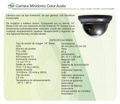 Camara Minidomo Color Audio