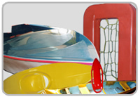 Productos hechos de plástico y fibra de vidrio