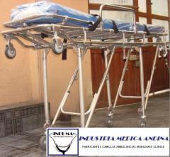 Camilla para Ambulancia Plegable de 2 Posiciones
