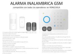 Alarma GSM Inalambrica