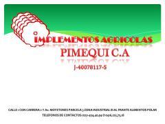 VENTAS DE IMPLEMETOS AGRICOLAS PIMEQUI C.A