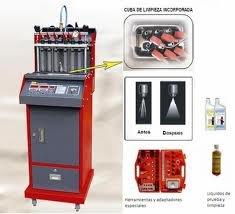 Maquina De Limpiea De 6 Inyectores Por Ultasonido Marca AAE