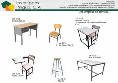 Mobiliario escolar, de oficinas, uniformes