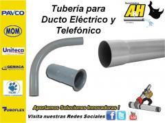 Ducto Electrico y Telefonico en PVC PAVCO UNITECA