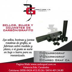 SELLOS, BUJES Y COJINETES DE CARBÓN/GRAFITO: