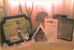 Reconocimientos, medallas, placas, trofeos, estatuillas, botones, pisapapeles, souvenirs, regalos