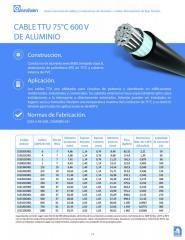 CABLE TTU 75ºC 600V DE ALUMINIO