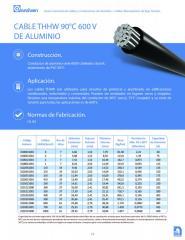 CABLE THHW 90ºC 600V DE ALUMINIO