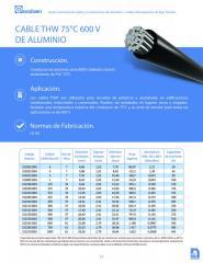 CABLE THW 75ºC 600V DE ALUMINIO