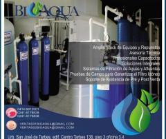 Plantas de tratamiento de agua, llenadoras, embotelladoras, filtros de poliglas
