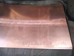 Lamina de cobre 0.75 x 60 x 1 metro soldada