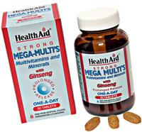 Health Aid Multi´s Ginseng. Multivitaminas con
