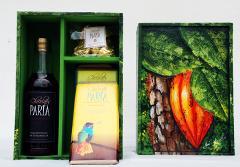 Chocolates hechos a mano de cajas de mdf pintadas