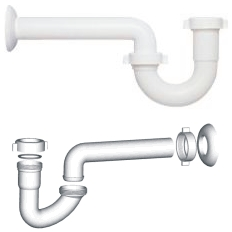 Tubos y accesorios de plástico, Sifón para