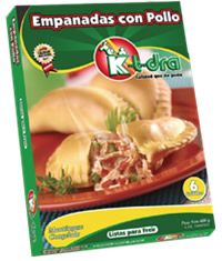 Productos semiacabados, Empanadas con Pollo