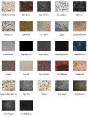 Artículos de granito, Azulejos del granito