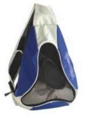 Mochila de deporte con compartimento de zapatos, Morral Cruzado de malla