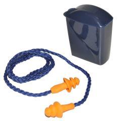 Tapón auditivo reusable con cordón con y sin