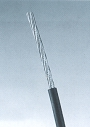 Línea de alambre cubierta