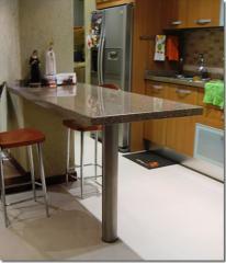 Mesas de cocina, Pedestal opalo